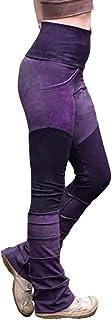 Mxssi Pantaloni Slim Donna Pantaloni da Costume Gotico Medievale Pantaloni retrò Elasticizzati Vita Alta Donna Casual a Co...