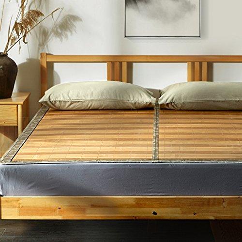 Wghwww Bambusmatte doppelte Matte 1.8m doppelte faltende Spiegelmatte 1.5m einzelne Matte (größe : 150 * 198cm)