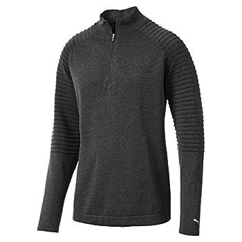 Puma Golf Men s 2018 Evoknit 1/4 Zip Popover Large Puma Black