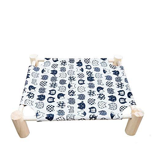 UBVV Cama elevada para gatos, cama para gatos de madera, lona, extraíble, lavable, adecuada para todas las estaciones (3)