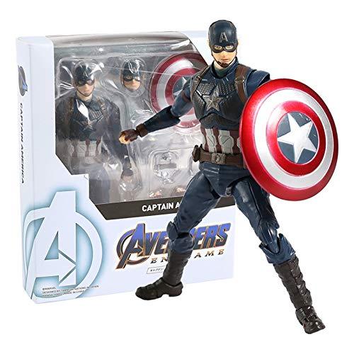JSJJAUA Action Figure Capitan America/Black Widow/Thanos/Ant Man PVC Action Figure Modello Collezione Giocattolo Modello Modello di Bambola (Color : Captain America)