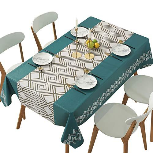 Qualsen Nappe de Table PVC, Nappe rectangulaire, Nappe rectangulaire Anti Tache, Nappe Impermeable,...