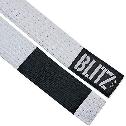 Blitz Cinturón de rango brasileño Jiu-jitsu (BJJ), color blanco, 250 cm
