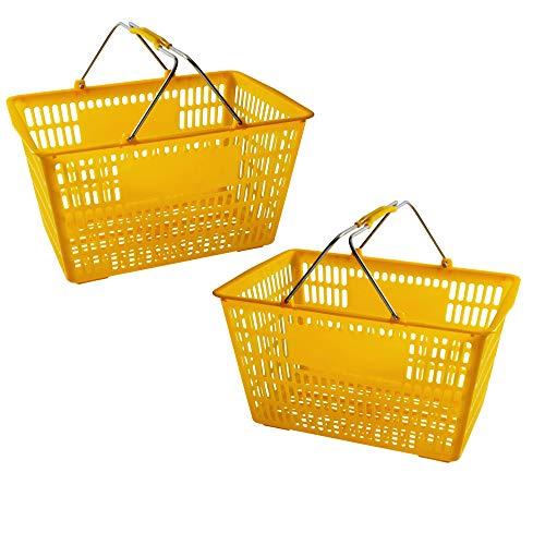 노란색 쇼핑 바구니 (2 세트)