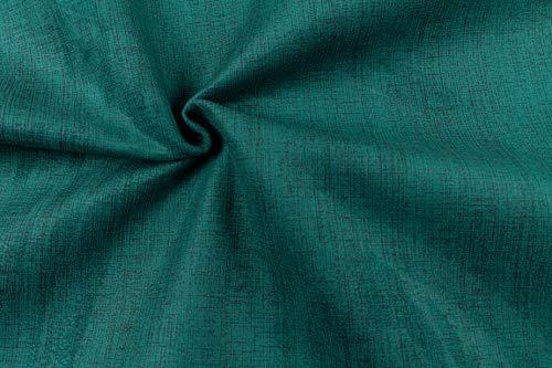 Generico Velvet Touch - Tessuto Vellutato Melange al Mezzo Metro - Idrorepellente, Antimacchia, Morbido - Altezza 140 CM - per Arredamento e tappezzeria (14 - Turchese)