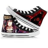 XYUANG Naruto Uchiha Itachi/Kakashi Zapatos de Lona para Cosplay Zapatos de Dibujos Animados Zapatillas Informales con Estampado 3D para Mujeres/Hombres/niños E-41