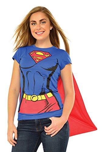 Rubie's officiële Supergirl T-shirt-kostuumset voor dames, maat XL