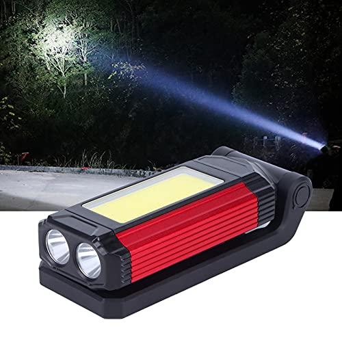 01 Luces de Trabajo COB, luz de inspección de Calor Antideslizante a Prueba de Lluvia Plegable con Base magnética para Acampar para reparación de automóviles en el hogar