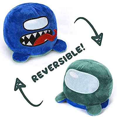 Among Us Reversible Double Sided Stuffed Plushie Plush Toy Animal Animals Pulpo Reversable Octopus Bear Toys Plushies Doll Game Teddy Flip Impostor Crewmate Fluffy Mood Changing 6 inch Best Gift 2021 from Toy Storage World