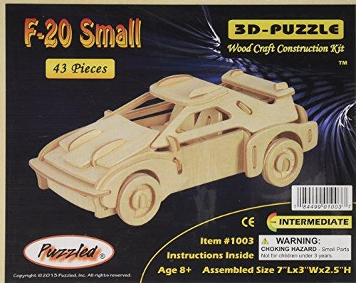 "3D Jigsaw Puzzle 43 Pieces 7""X3""X2.5""-F-20 Car"