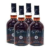 Ron Dos Maderas 5+5 PX de 70 cl - Elaborado en el Caribe y en Jerez - Bodegas Williams & Humbert (Pack de 4 botellas)