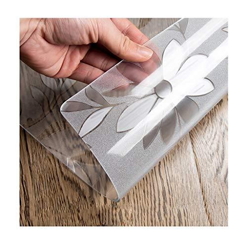 Qbylyf tafelkleed, rechthoekig, kunststof, tafelkleed, 1,7 mm, PVC, tapijt, glas, zacht, voor kantoor, eettafel, kantoor