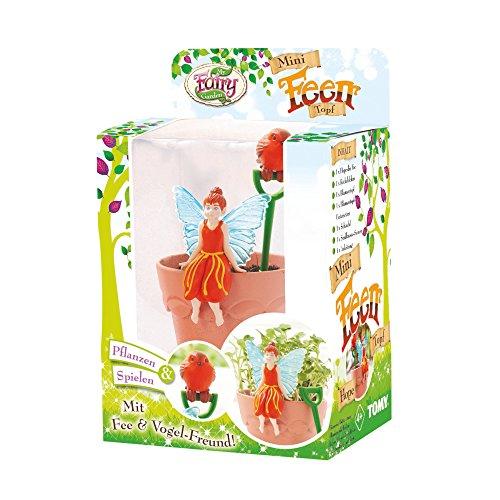 TOMY My Fairy Garden Mini Feen-Topf Hope – Kreatives Spielzeug für Kinder ab 4 Jahre - die Natur entdecken und verstehen, 1x Pflanzset mit Fee Figur inkl. Bohnensamen