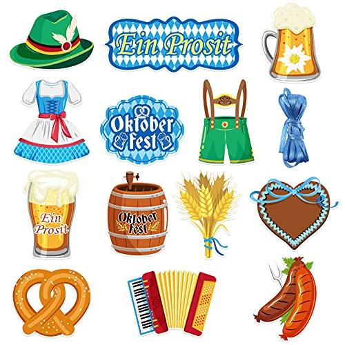 ABOOFAN Decoracin de Fiesta de Cerveza Oktoberfest 14 Patrones Impresos Jarra para Fiesta de Cerveza Accesorios para Fiestas de Oktoberfest Suministros para Fiestas Familiares Y Amigos