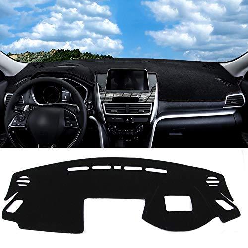 XDDXIAO para Mitsubishi Eclipse Cross 2018 2019 LHD Car Dashboard Cover Dash Mat Antideslizante Sombrilla Pad Alfombras Accesorios Interiores,Negro,Rightrudder