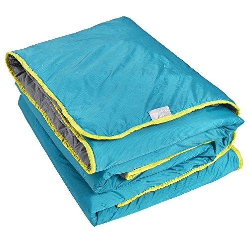Lightspeed Outdoors Sundown Camp Blanket, Nylon Ripstop, Fluffy Down Alternative, Packable, 77' x 55'