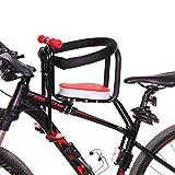 TETAKE Kindersitz Fahrrad, 50KG Abnehmbar Fahrradkindersitz Vorne mit Pedal und Griff, Mountainbike Kindersitz Fahrradsitz Sicherheitssitz für Kinder