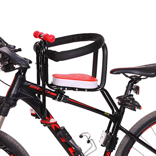 Yavso Seggiolino Bicicletta Anteriore per Bambino 2-6 Anni (Max 50KG) - Pieghevole Sedile Seggiolino Anteriore per Mountain Bike