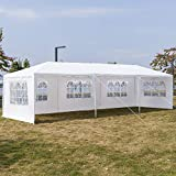 Outdoor Party Tent Patio Tent Wedding Tent, 10x30ft Heavy Duty Tent for Wedding, Waterproof BBQ Shelter with 8 Removable Sidewalls and 2 Doors for Party Garden Wedding Camping