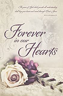 Bulletin-Funeral-Forever In Our Hearts (Pack Of 10