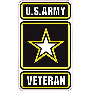 Amazon Com Magnet 4x4 Inch Round U S Army Retired Sticker Bumper Vet Veteran Us Military Logo Magnetic Vinyl Bumper Sticker Sticks To Any Metal Fridge Car Signs Kitchen Dining