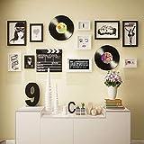 KINGXX-03 Marcos de Fotos Gallery Wall Photo Frames, Multi Picture Gallery Wall Photo Frames Set de Pared Juego de 13 Piezas - Negro