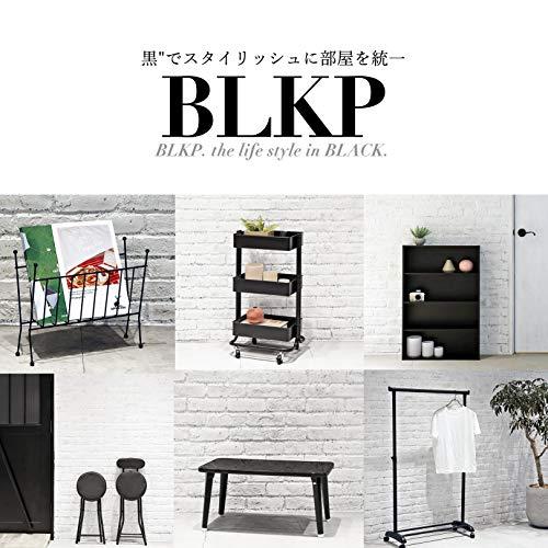 【BLKP】パール金属ソファー2人掛け布張り木肘限定ブラックファブリック椅子BLKP黒
