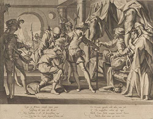 Joachim Wtewael Giclee Auf Leinwand drucken-Berühmte Gemälde Kunst Poster-Reproduktion Wand Dekoration(Graf Wilhelm II. Von Holland erlaubt die Enthauptung seines Baliffs vom Thron Justitiae) #XFB