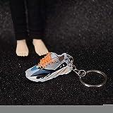 ahliwei Llavero 1st Generation Sneakers 3D Sneakers Pareja Bolsa Adornos Regalos Creativos Zapatillas De Deporte Regalos Un par de Cordones Naranjas Originales