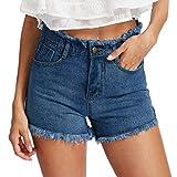 Pantalones Vaqueros Cortos De De Mezclilla Cortos Pantalones Verano Joggjeans Moda Completi Vintage Agujero...