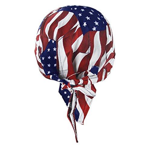 RUIXIB Bandana Cap Sports Kopfbedeckung Drucken Piratenmütze Street Dance Mütze Unisex Outdoor Fahrrad Kopftuch Atmungsaktive Baumwolle Kopftuch reiten für Herren Damen - 3