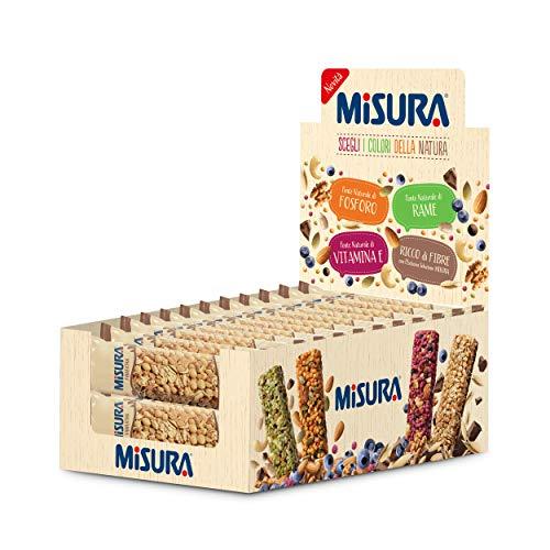 Misura Snack Cereali Fibrextra | Barrette Cereali, Avena, Riso, Mais e Cioccolato | Confezione da 405g
