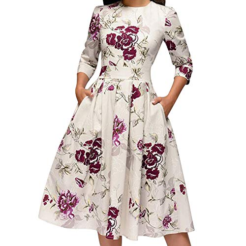 Mymei Women'S Floral Printing A-Line Dresses