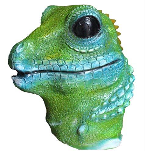 tytlmask latex maskers jungle dier volledige hoofd hagedis cosplay maskers halloween kostuum vermomming voor volwassenen groen