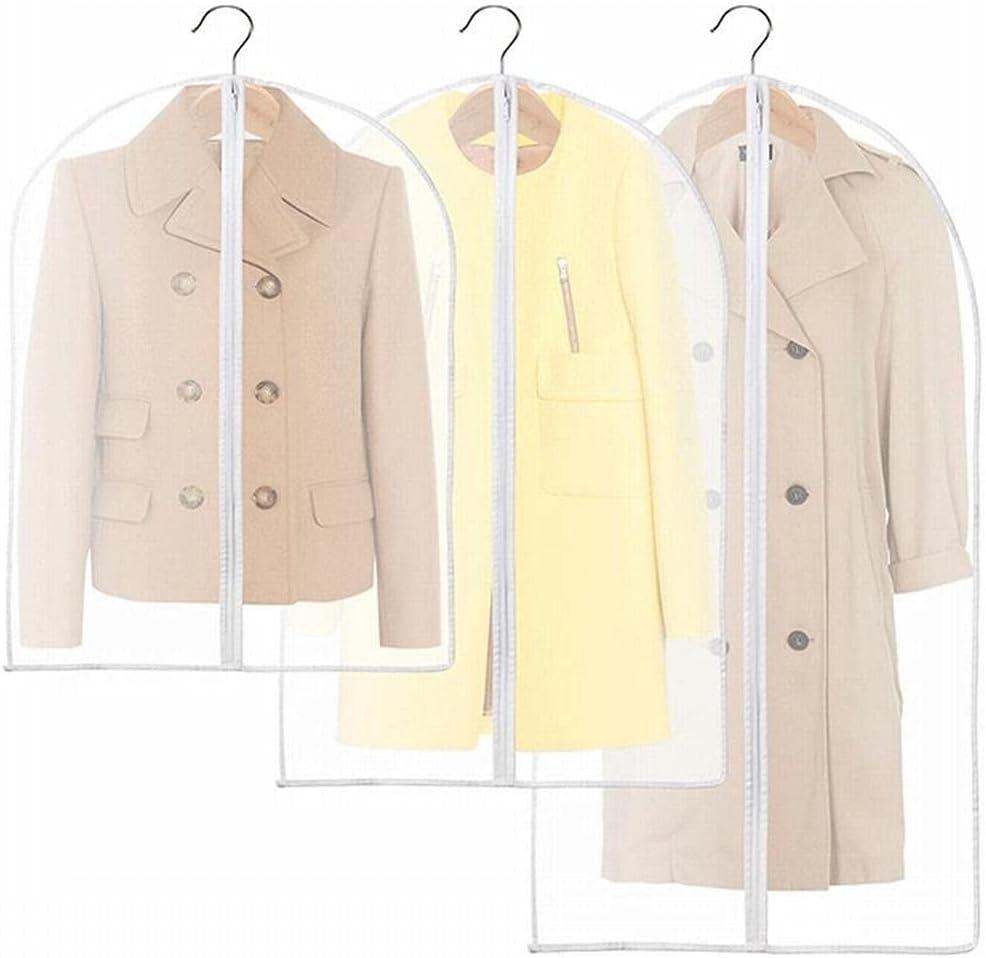 ZHANGM 3pcs PEVA Translucent Ranking TOP16 depot Clothing Dust Cloth Cover Bags Suit