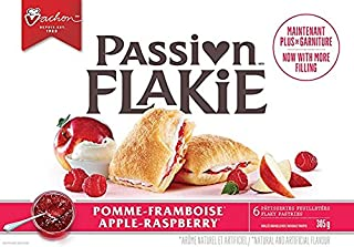 Vachon Passion Flakie Pastries Apple Raspberry 10.3 Ounce, 1 Box, Made in Quebec