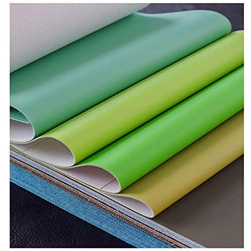 NIUFHW Tela De Cuero Artificial Color Puro PU Cuero Hecho A Mano DIY Sofá Tela Tela Decorativa 1.38m * 1 Tela Mlayeather por El Patio(Color:34)