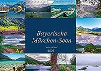 Bayerische Maerchen-Seen (Wandkalender 2022 DIN A4 quer): Diesmal lade ich Sie auf eine schoene Reise ueber bayerische Maerchenseen ein. (Monatskalender, 14 Seiten )