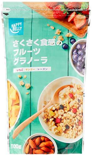 [Amazonブランド]Happy Belly さくさく食感のフルーツグラノーラ 1100g (大容量サイズ)