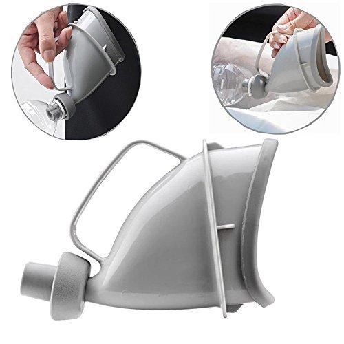 YUMSUM Femme féminin Appareil d'urination Urinoir Urinaux entonnoir portable réutilisable Toilette de voyage Toilette au poêle pour camping en plein air Sit ou debout d'urgence (Gris)