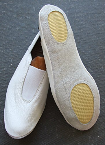 Resistance Fitness White Gymnastic Slippers - EU 37