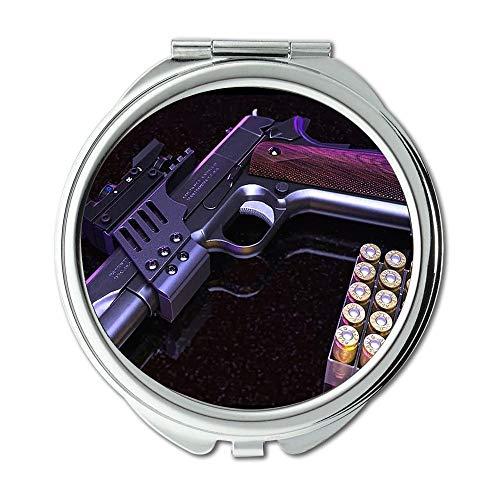 Yanteng Spiegel, Compact Mirror, Gunkote, Runder Spiegel, Pistole, Taschenspiegel, tragbarer Spiegel