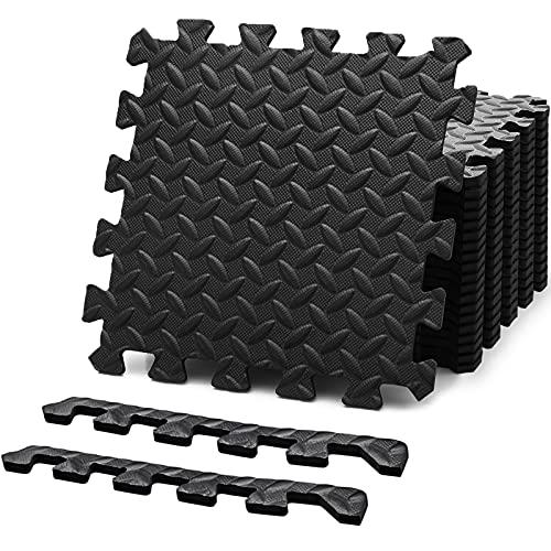 Felnats Puzzle Exercise Mat, EVA Foam Interlocking Tiles (Pack of 20),...