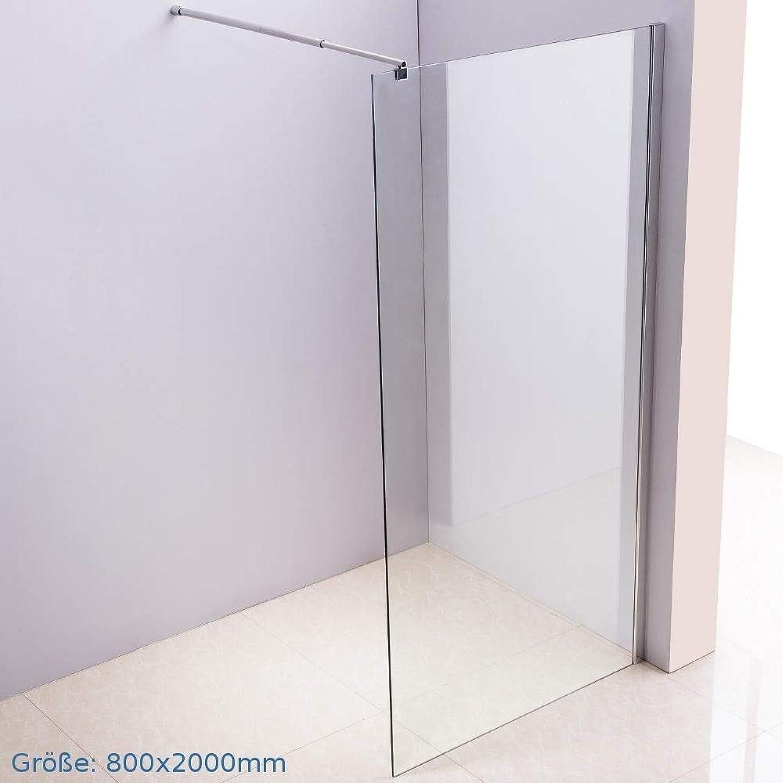 MASILY Duschwand 80x200 Duschabtrennung 10mm Glas Duschtrennwand Walkin Dusche