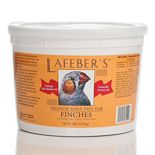 LAFEBER'S Premium Daily Diet Pellets Pet Bird Food, Made with Non-GMO and Human-Grade Ingredients, for Finches, 5 lbs