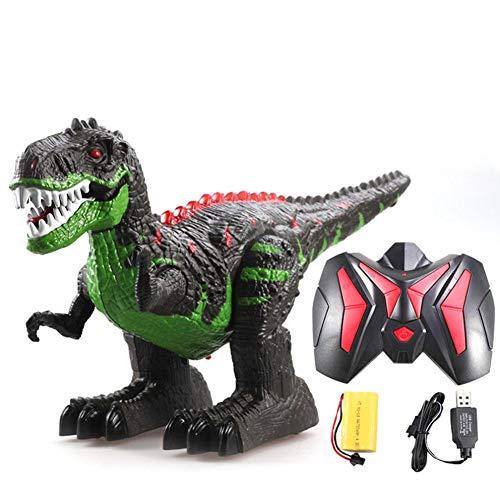 Wan Ning 2.4g Control Remoto inalámbrico Dinosaurio eléctrico Control Remoto tiranosaurio Rex Dinosaurio Artificial Juguete de Juguete Juguetes educativos (Caja de Color)