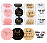 4 Rolls 2000 Pieces Thank You Stickers Labels for Baking Packaging Envelope Seals , Thank You for Supporting My Small Business Stickers Seals, White Stickers Tags for Wedding Gift Wrap Bag
