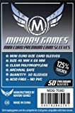 Mayday Games 45 x 68 mm SLEEVES Mini Euro Premium Card Game by Mayday Games