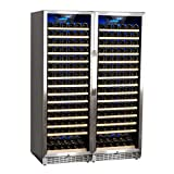Edgestar 332 Bottle Built-In Side-by-Side Wine Cellar Stainless Steel...