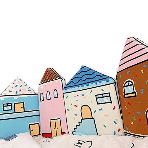 Baby handbemalte Krippe Bumper Pads Liner Kinderzimmer Bett Bumper Pads 4-Seiten-Abdeckung abnehmbar, Kids Rom Dekoration, Cradle Protector, niedlichen Zaun Geländer@A1